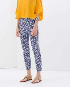 Image 2 of PRINTED TROUSERS WITH BOW DETAIL from Zara