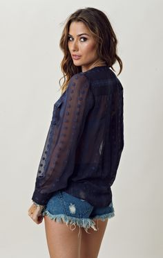 Zoa Lace Silk Pocket Detail Pullover