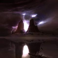 Lightning Storm wallpaper by DJ_Ivory Storm Wallpaper, Fire And Ice, Deep Space, Lightning, Clouds, Sky, World, Nature, Painting
