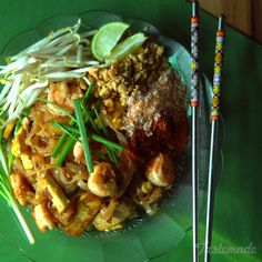 Next time you're craving Thai takeout, whip up your own homemade pad Thai with all the fixings.