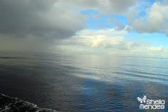 Tempestade chegando em auto-mar