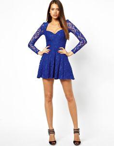 Robe asos bleu electrique