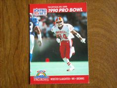 Webster Slaughter Cleveland Browns WR Card No. 370 (FB370) 1990 NFL Pro Set Football Card - for sale at Wenzel Thrifty Nickel ecrater store