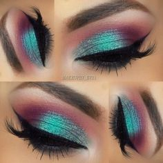 Eye Makeup Tips.Smokey Eye Makeup Tips - For a Catchy and Impressive Look Makeup Goals, Love Makeup, Makeup Inspo, Makeup Inspiration, Beauty Makeup, Teal Makeup, Makeup Ideas, Makeup Style, Makeup Quiz