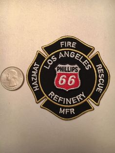 Phillips 66 Los Angeles Oil Refinery Fire Department Firefighter Paramedic Patch