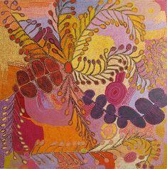 Ultukunpa - Honey Grevillea by Ruby Tjangawa ~ Exhibitions - Gallery Gabrielle Pizzi - Exhibiting Contemporary Australian Aboriginal Art Melbourne Aboriginal Painting, Aboriginal Artists, Aboriginal History, Art Hippie, Ouvrages D'art, Indigenous Art, Art Abstrait, Sand Painting, Australian Artists