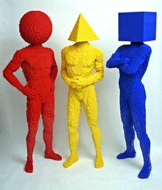 Red, Yellow & Blue Lego Men!!