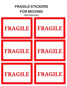 Moving Labels: Free Printable - Simple Mom Review College Packing Tips, Packing To Move, Printable Stickers, Free Printables, Moving Organisation, Organization Ideas, Organizing, Moving Binder, Moving Labels
