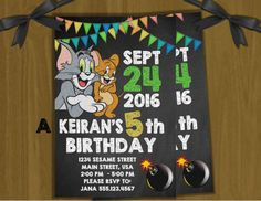Tom and Jerry Personalized Invitations  by KeepsakeExpressions