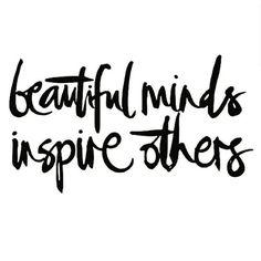 Beautiful minds inspire others... @Wizdomly #m_eye_nd