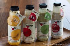 Dress up your salads Japanese-style with Wafu® Japanese Dressings. Available in Canada and the U. Gluten Free Recipes, Yummy Recipes, Food Displays, Vinaigrette, Drink Bottles, Yummy Food, Japanese Style, Drinks, Dressings