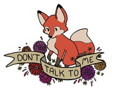 Rude Foxes by Eglads. I kinda want to hang these all over my cube at work.
