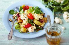Discover there's more to cauliflower than the Sunday classic of cauliflower cheese with this great tasting Cauliflower, pancetta and hazelnut salad recipe available online at Tesco Real Food