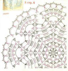 Вязаные салфетки и мелочи для дома Crochet Stitches Chart, Crochet Doily Diagram, Crochet Symbols, Crochet Stitches Patterns, Thread Crochet, Filet Crochet, Crochet Motif, Crochet Designs, Crochet Doilies