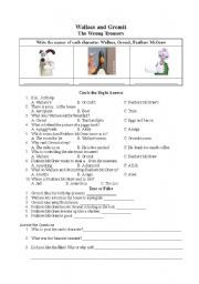 English worksheet: Wallace and Gromit-The Wrong Trousers