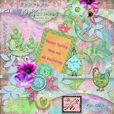 Le Scrap de Perline: Pastel Spring free mini kit - may 2014
