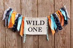 Celebrate your Wild One with this adorable and unique highchair garland. Can be used as a high chair banner or wall decoration. Each banner