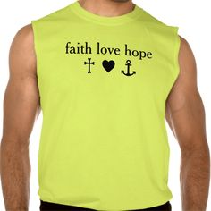 CROSS HEART ANCHOR - faith love hope Sleeveless T-shirt Tank Tops