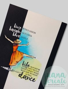 Juana Ambida: Beautiful You - Celebrate In Style...Zig Clean Color Brush markers,  cut out part of the image for interest and to also highlight the In Style sentiment that has been white heat embossed on black cardstock