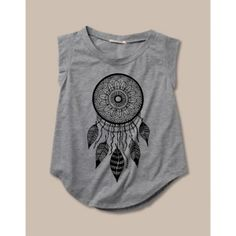 Womens DREAMCATCHER Cap Sleeve Tee found on Polyvore