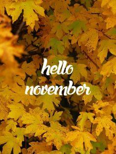 Hallo November, Welcome November, November Month, Sweet November, Hello December, New Month, November Tumblr, November Quotes, November Pictures