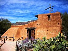 The chapel, located in Tucson, Arizona, was built in 1952 by Ted DeGrazia