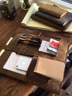 Aberdeen Pad-folio handmade leather folio by LUSCIOUSLEATHERNYC