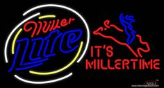 Miller Lite Rodeo Bull Rider - Its Miller Time Beer Real Neon Glass Tube Neon Sign,Affordable and durable,Made in USA,if you want to get it ,please click the visit button or go to my website,you can get everything neon from us. based in CA USA, free shipping and 1 year warranty , 24/7 service