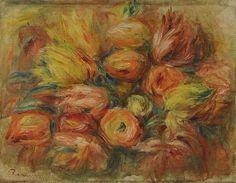 70 x 70 cm Rose in Orange 1866 Anna Flores