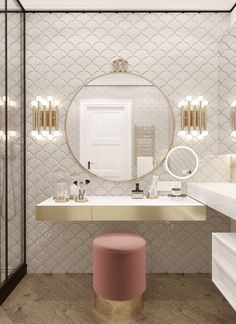 Red Presnya Project on Behance Bathroom Interior Design, Decor Interior Design, Luxury Interior, Bathroom Inspiration, Home Decor Inspiration, Decor Ideas, Bathroom Red, Zebra Bathroom, Nature Bathroom