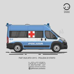 KombiT1: Fiat Ducato - Polizia di Stato Fiat Ducato, First Response, Truck Art, Jeep Renegade, Fj Cruiser, State Police, Emergency Vehicles, Land Rover Defender, Police Cars