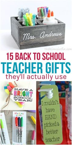 Want to get your child's teacher a gift that he or she will actually use? These back to school teacher gifts are practical, fun and definitely useful! via @leviandrachel