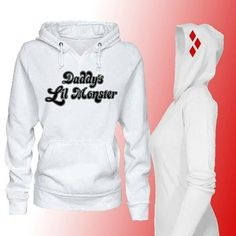 42d950b469d2c5 Harley Quinn Daddy s Lil Monster Long Sleeve Cosplay Pullover Shirt Hoodie