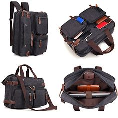Clean Vintage Laptop Backpack Messenger | Unisex Convertible Laptop Messenger/Backpack- Rucksack High School Backpack BookBag Daypack Hiking ** Read more reviews of the product by visiting the link on the image.
