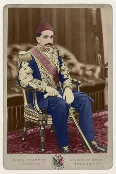 Şehzade (Prince) Abdülhamid – the future sultan Abdülhamid II (1876-1909) – photographed in Balmoral Castle in 1867, where he accompanied his uncle Sultan Abdülaziz during his state visit in England.