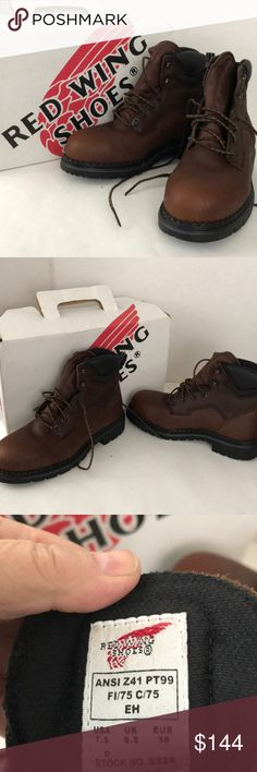New in box Red Wing shoe brand boots Chestnut brown over the ankle all leather uppers boots. Size 7.5 men's or 9.5 women's. Never worn - New in Box. Red Wing Shoes Shoes Boots