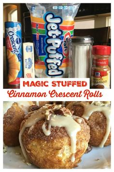 MAGIC STUFFED CINNAMON CRESCENT ROLLS (Also known as Resurrection Rolls & Empty Tomb Rolls) These cinnamon rolls will knock your socks off! Simple to make, so good! A fun activity for kids. The marshmallows in the middle of the rolls melt away, Homemade Crescent Rolls, Crescent Roll Recipes, Crescent Cinnamon Rolls, Stuffed Crescent Rolls, Dessert With Crescent Rolls, Pizza Crescent Rolls, Dessert Simple, Quick Dessert, Breakfast Dessert