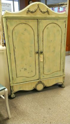 Painted Antique cabinet.  By Tammy Henson