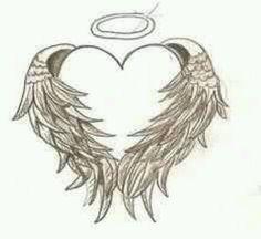 Angel wing heart <3
