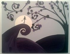 Nightmare Before Christmas button tree art :)