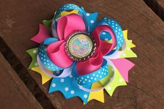 Beautiful boutique hair bow you are my sunshine