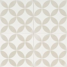 Light Grey and White Circle reproduction tile
