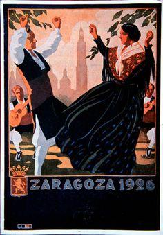 Zaragoza, Spain. Cartel de Fiestas del Pialr. 1926