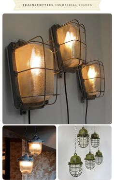 industrial lighting solutions. big love of mine is bare bulbs and hardware