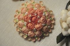 Vintage Seashell Brooch