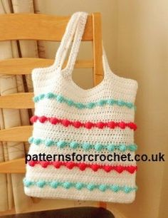 Free crochet pattern for ladies bag http://patternsforcrochet.co.uk/ladies-crochet-bag-usa.html #patternsforcrochet