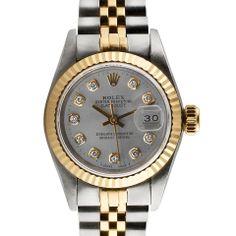 Rolex Ladies' Datejust Diamond Watch in Silver - Beyond the Rack