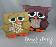 addINKtive designs: FREE Tutorial for Top Note Owl Gift Bag Holder