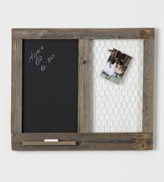 Reclaimed Wood Memo Board | Leave handwritten reminders, love notes and grocery lists on t... | Chalkboards