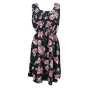 Mogul Womens Black Boho Chic Dress Floral Print Sleeveless Sundress Image 1 of 2      https://www.walmart.com/search/?cat_id=0&grid=true&page=3&query=MOGUL+INTFERIOR+#searchProductResult